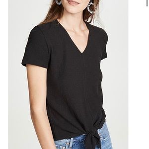 Madewell texture & thread, tie front top. M